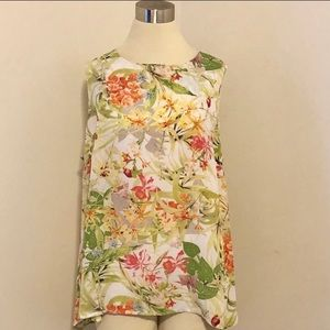 Rose & Olive Multicolor Floral Sleeveless Blouse